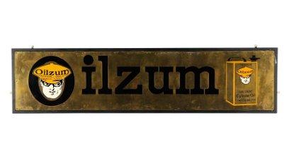 Oilzum Gas Engine Cylinder Oil Sign 80x20 Single-Sided