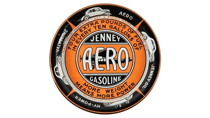 Jenney Aero Gasoline Ashtray 4.25 Inches