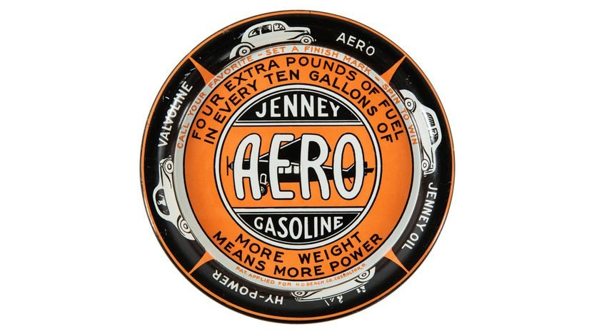 Jenney Aero Gasoline Ashtray 4.25 Inches