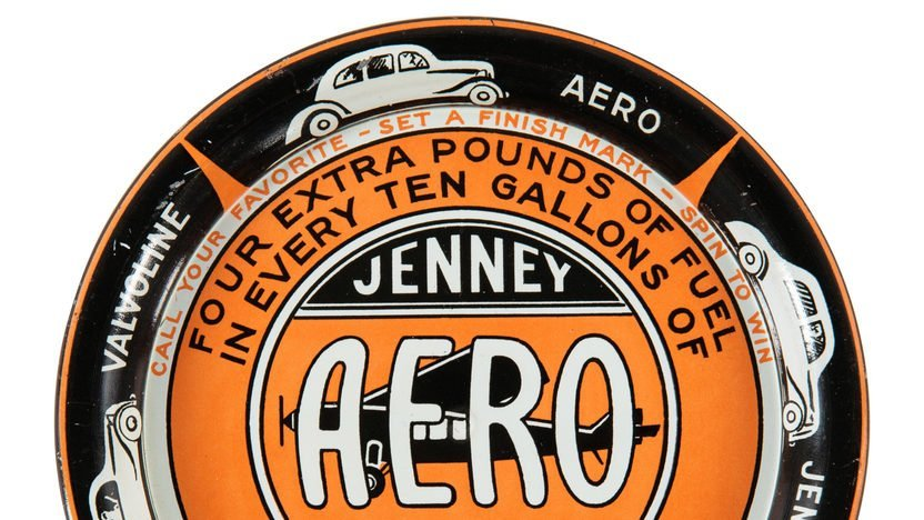 Jenney Aero Gasoline Ashtray 4.25 Inches - 2