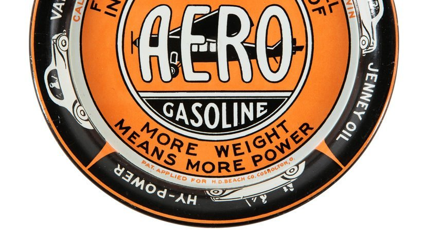 Jenney Aero Gasoline Ashtray 4.25 Inches - 3
