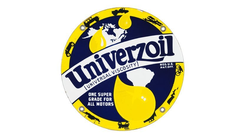 Globe Univerzoil PP Sign SSP 10 Inches Single-Sided