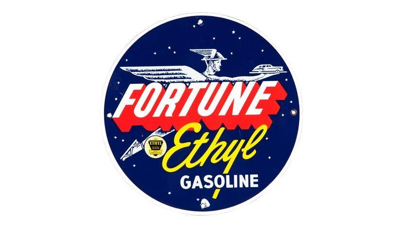 Fortune Ethyl Gasoline PP Sign SSP 12 Inches