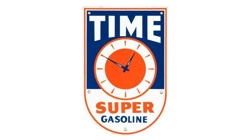Time Super Gasoline PP Sign SSP 9.25x14 Single-Sided