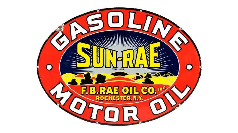 Sun-Rae Gasoline Motor Oil Sign SSP 42x30.5