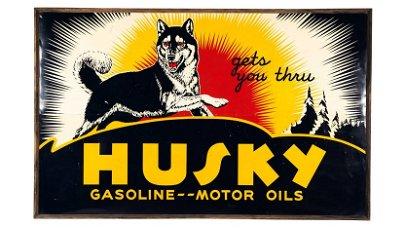 Husky Gasoline Motor Oil Sign SST 97x61 Single-Sided
