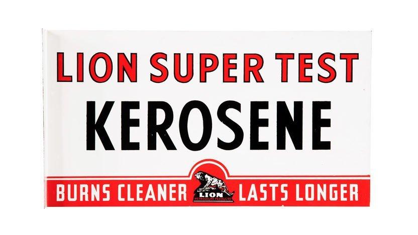 Lion Kerosene Flange Sign DSPF 22x12 Double-Sided