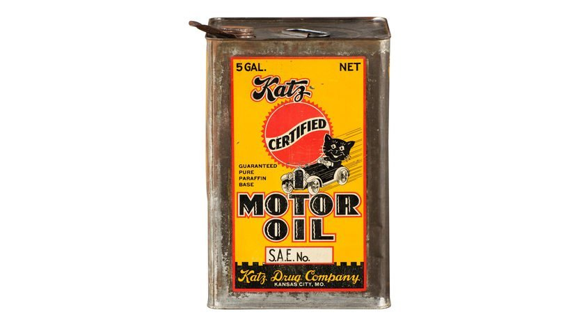 Katz Certified Motor Oil Five Gallon Oil Can