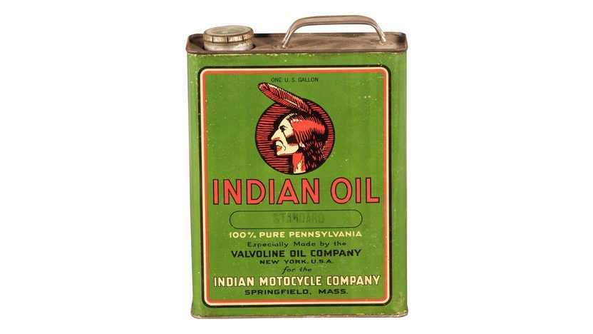 Indian Motorcycle Company Oil One Gallon Oil Can