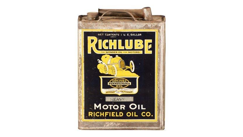 Richlube Motor Oil Richfield Oil Co One Gallon Oil Can