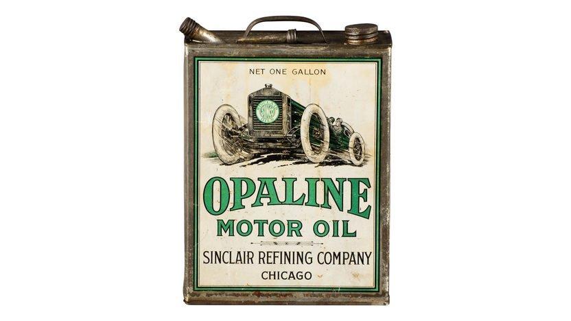 Sinclair Opaline Motor Oil Race Car Graphic One Gallon