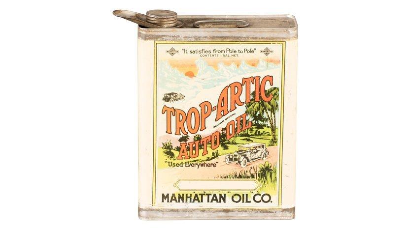 Trop-Artic Auto Oil Manhattan Oil Co. One Gallon Oil