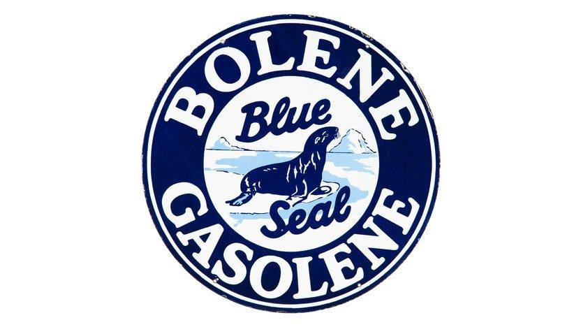 Bolene Blue Seal Gasoline Sign DSP 30 Inches