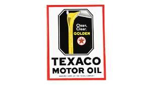 Texaco Motor Oil Flange Sign DSPF 17.5x23.5