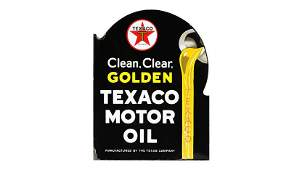 Texaco Clean Clear Golden Motor Oil Flange Sign DSPF