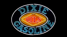 Dixie Oils Gasoline Neon Sign SSP 63.5x46x9