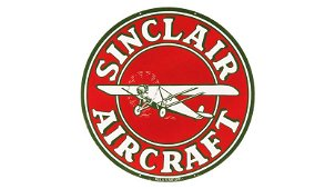Sinclair Aircraft Sign DSP 47.75 Inches Double-Sided