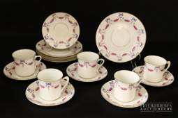 A CWS Windsor China part tea set, decorated with swags