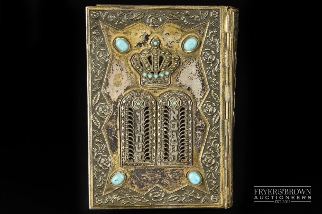 Judaica - A gilded white metal mounted