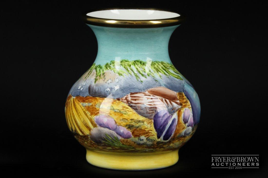 A Moorcroft Enamels, little seashell pattern vase,