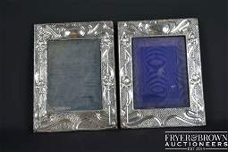 Two Art Nouveau silver mounted photograph frames