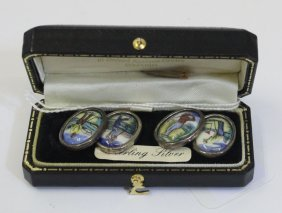 Golfing Interest - A Pair Of 925 Stamped Silver And