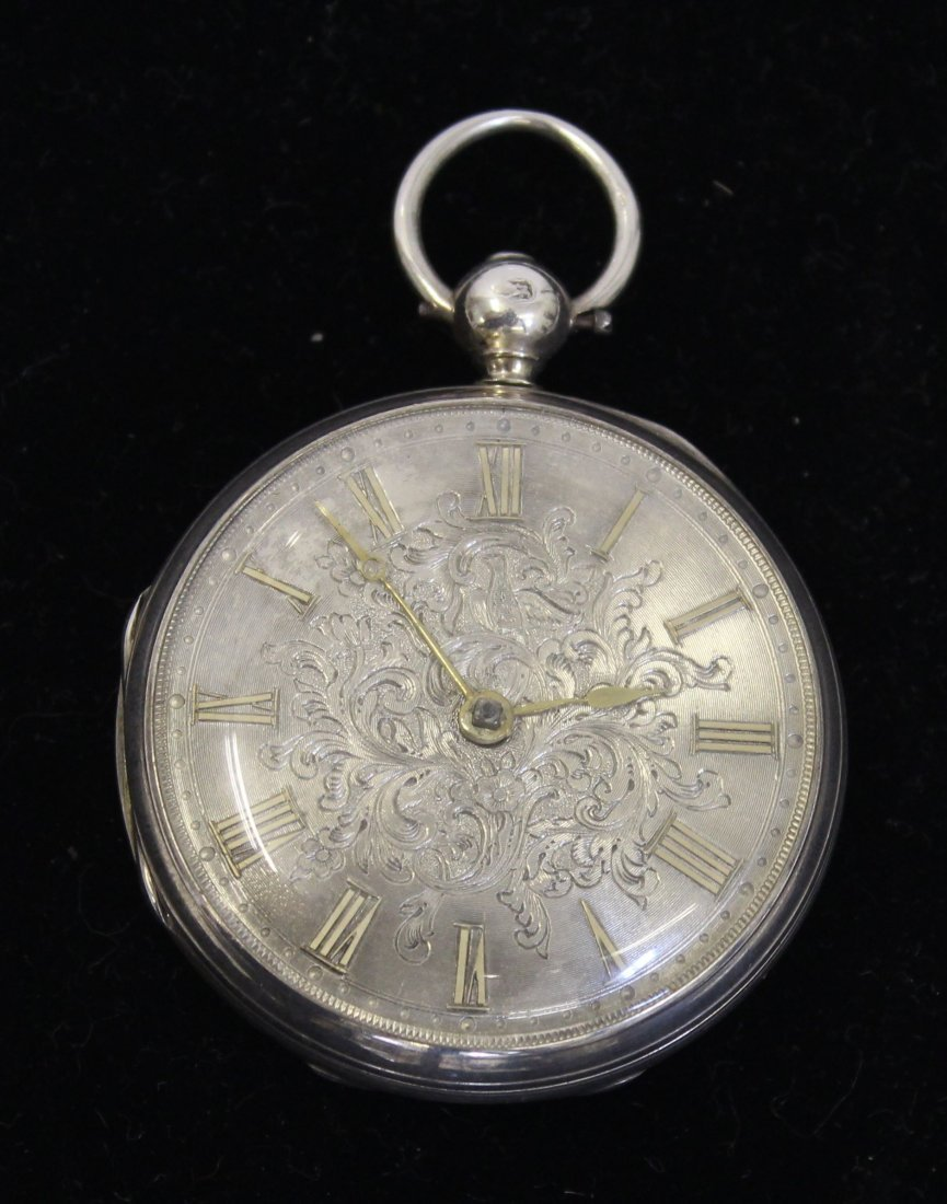 A Victorian silver pocket watch, the movement signed