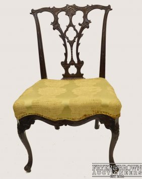 A Very Fine George Iii Carved Mahogany Side Chair
