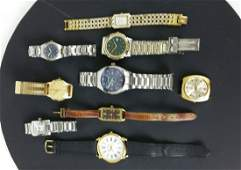 A group of nine various costume watches including