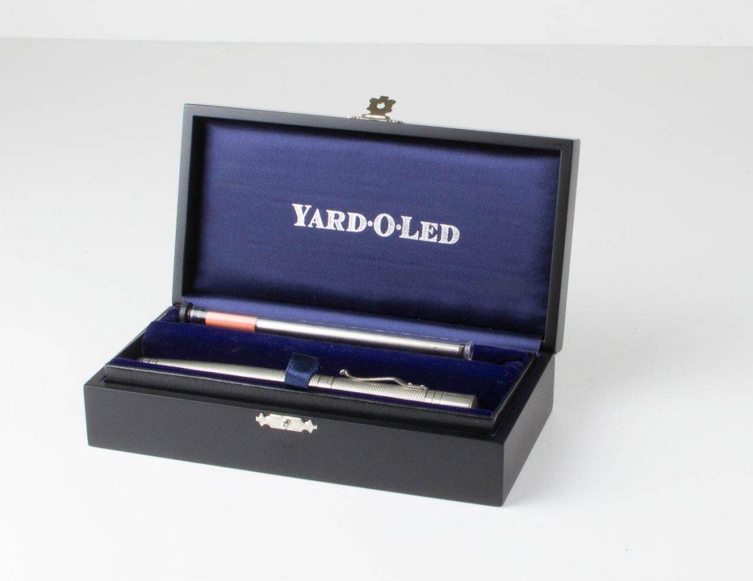 A Yard-O-Led silver biro and refill, in original velvet
