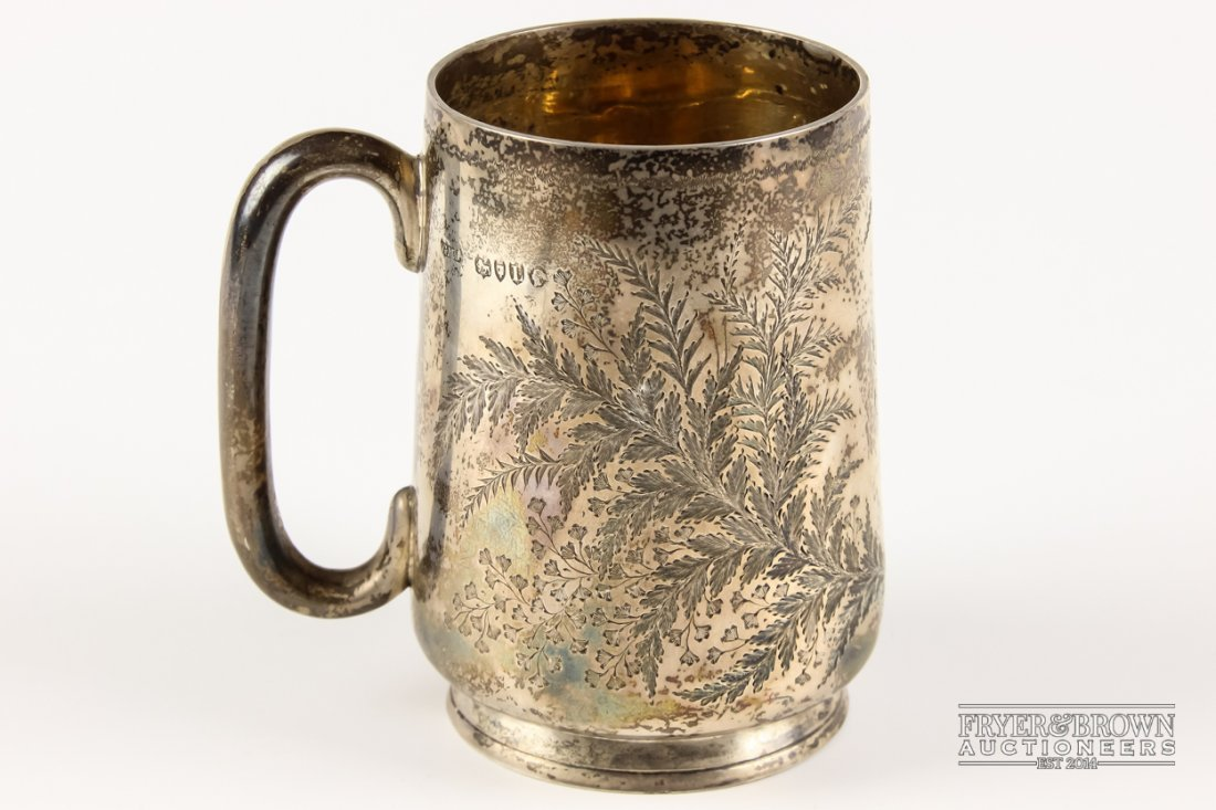 A small or child's Victorian silver tankard or