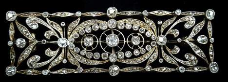 A fine antique Belle Epoque diamond brooch c1900, the
