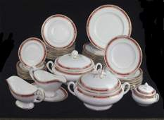 A Royal Worcester Beaufort part dinner service printed
