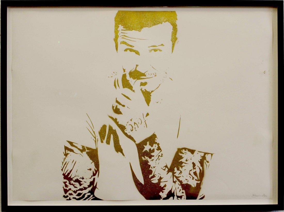 Bambi - Street Artist - David Beckham 'Amour Icone'