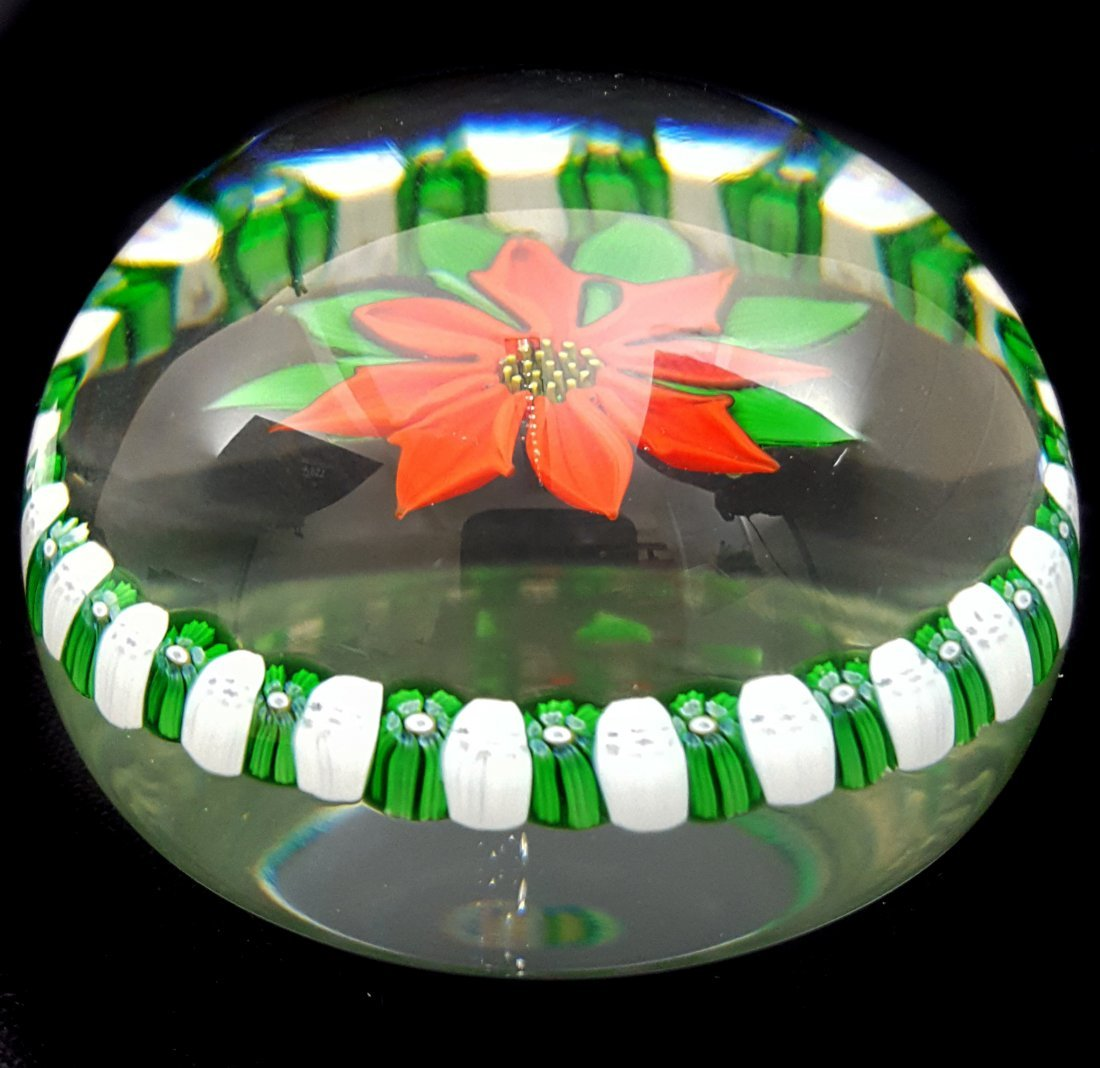 A Perthshire glass paperweight, Christmas 1976, - 2