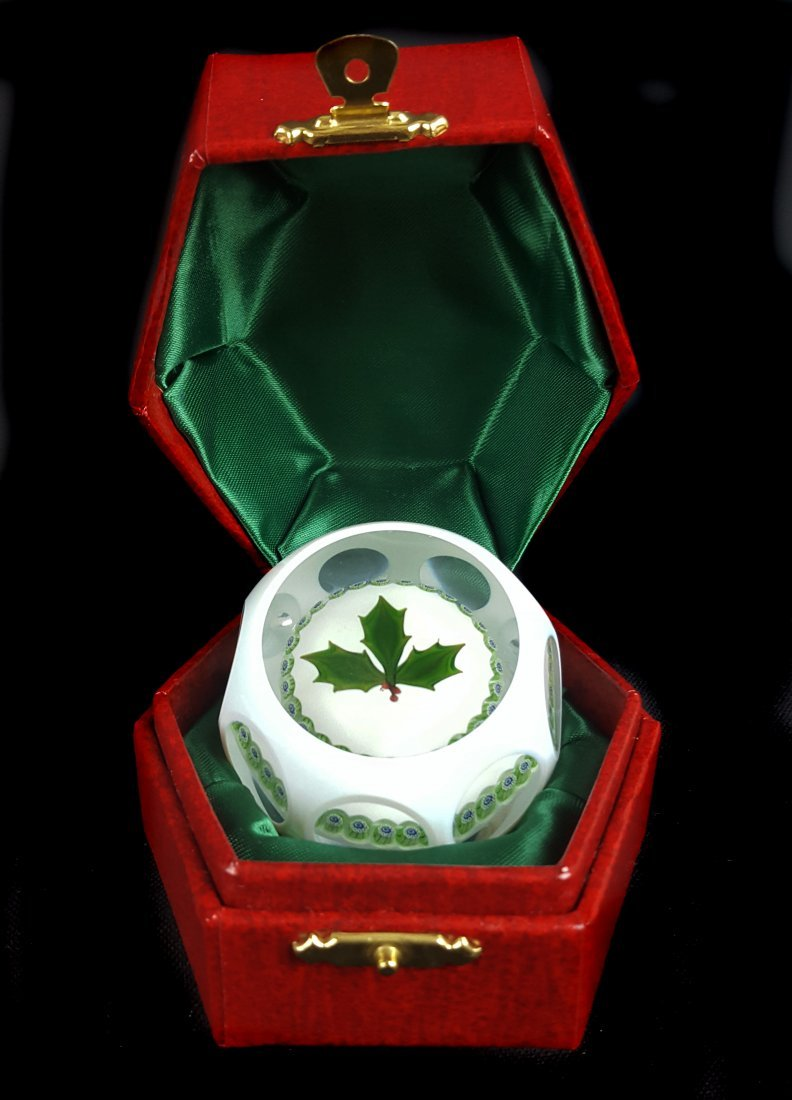 A Perthshire glass paperweight, 1978 Christmas edition,