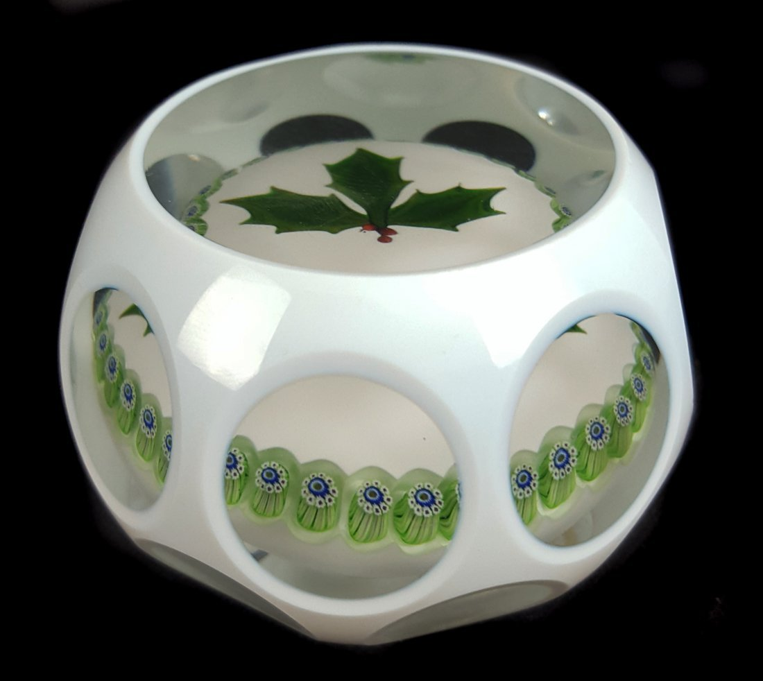 A Perthshire glass paperweight, 1978 Christmas edition, - 2