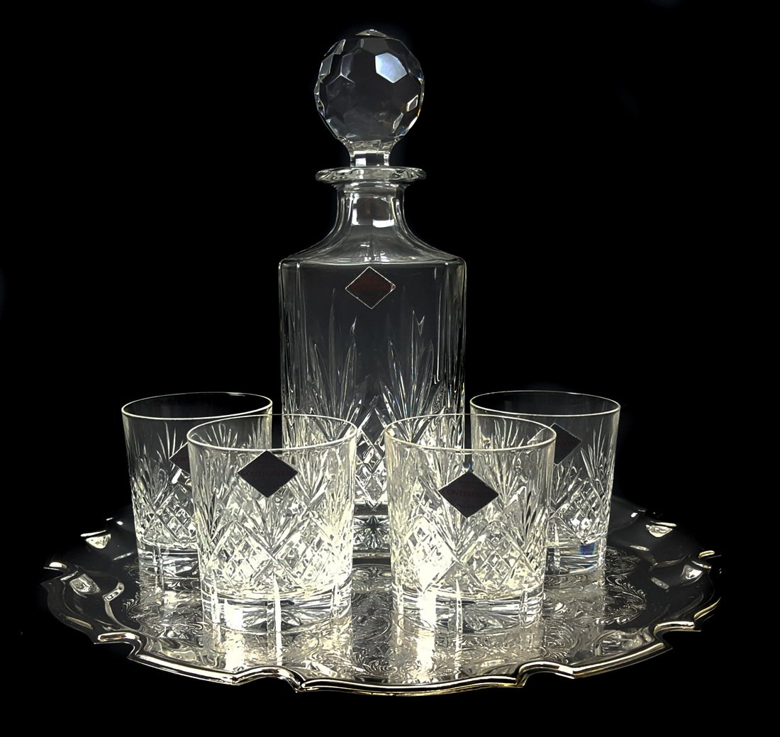 An Edinburgh crystal continental glass decanter with - 2
