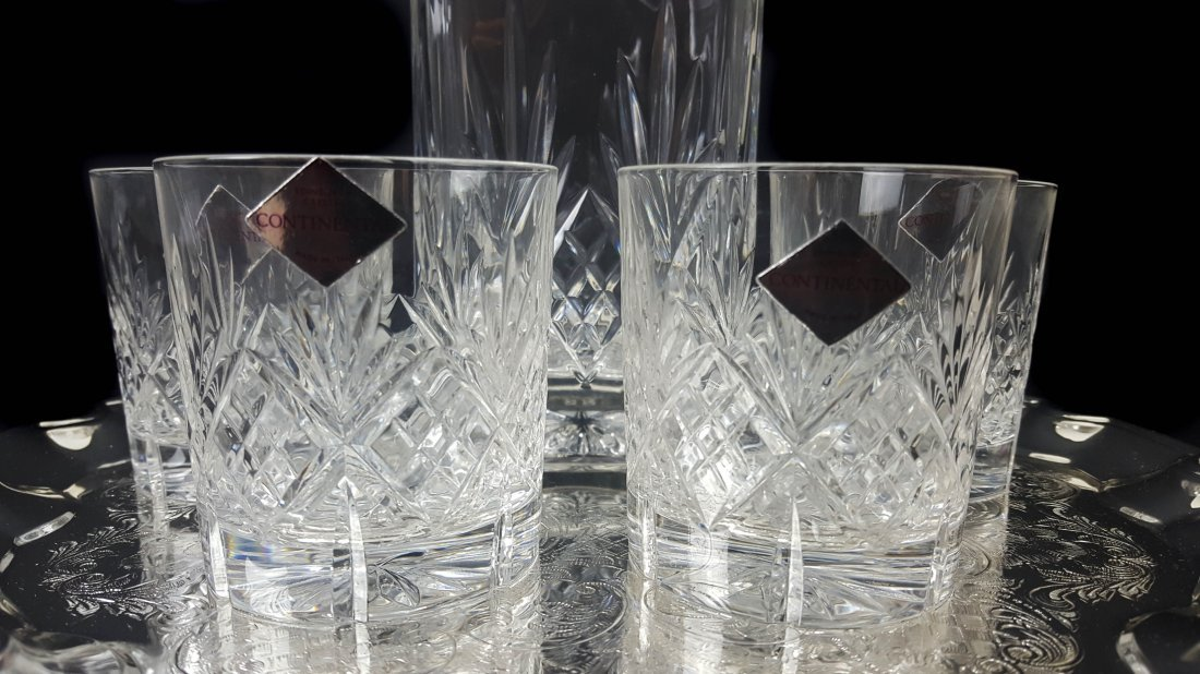 An Edinburgh crystal continental glass decanter with - 3