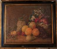 19thc. American School, Still Life with Fruit