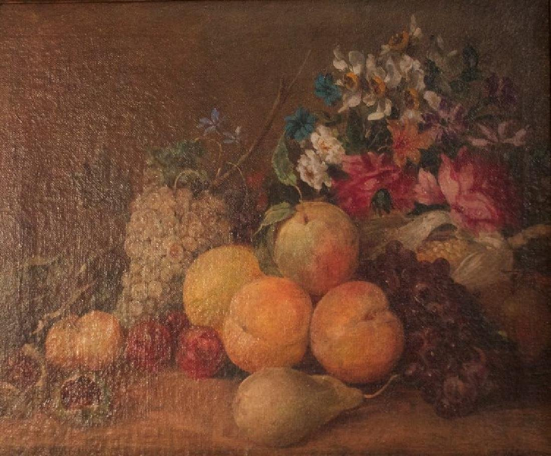 19thc. American School, Still Life with Fruit - 2
