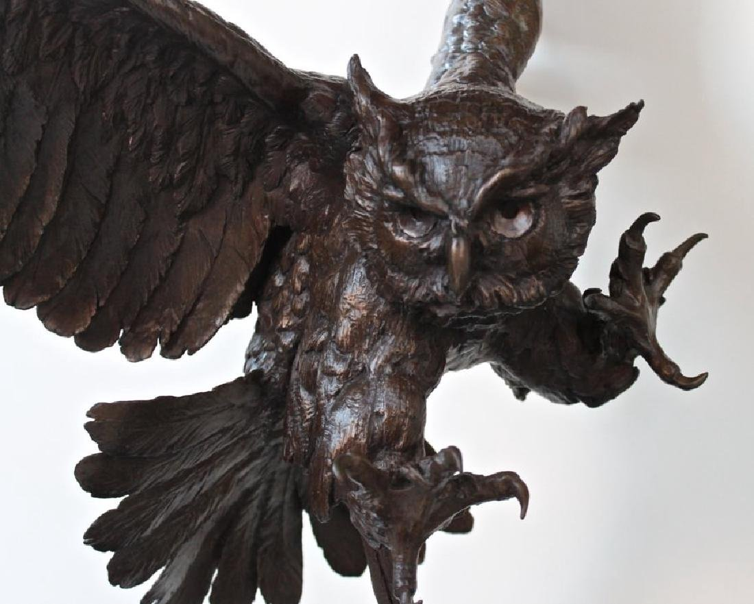 Jules Moigniez (French 1835 - 1894) Great Horned Owl - 5