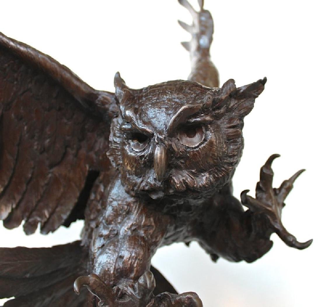 Jules Moigniez (French 1835 - 1894) Great Horned Owl - 6