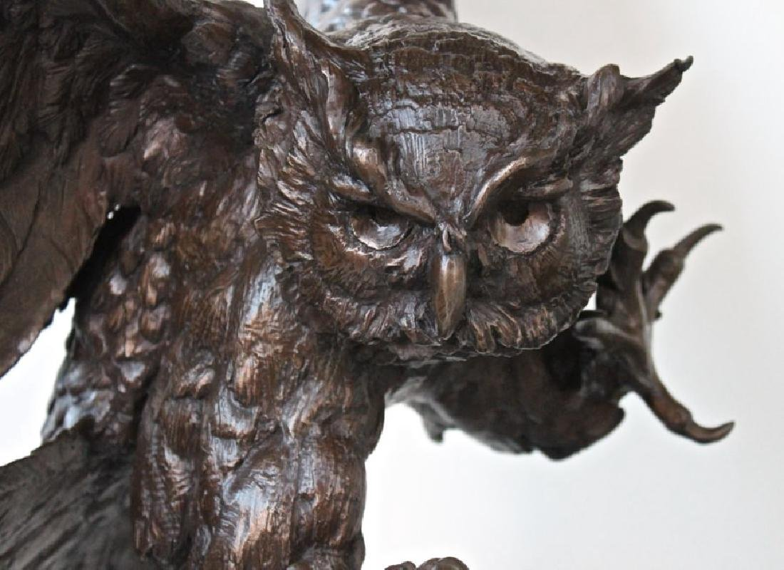 Jules Moigniez (French 1835 - 1894) Great Horned Owl - 8