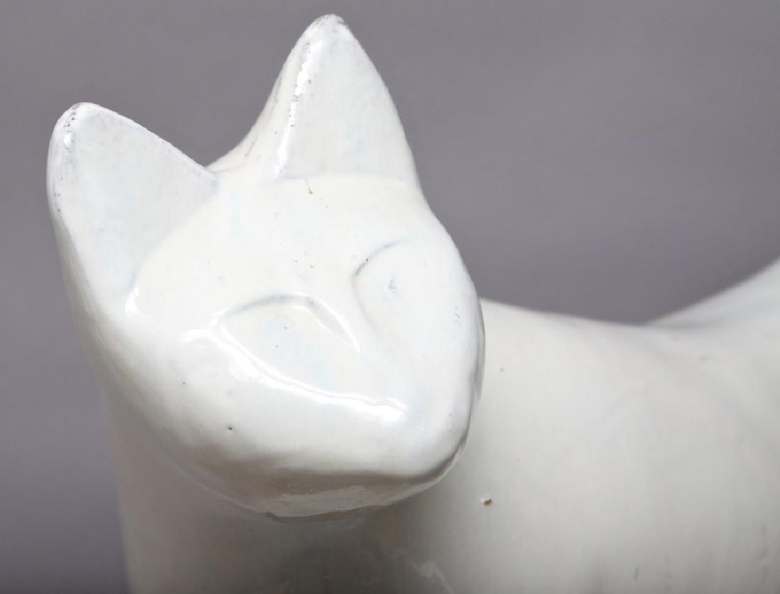 A Ceramic Sculpture of a Cat, 20th century American - 4