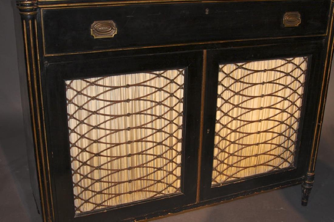 A Regency Style Ebonized Secretary Bookcase, Early 20th - 3