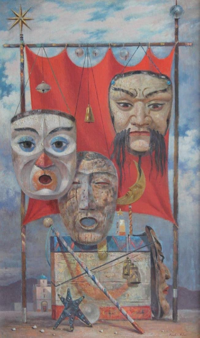Paul Riba (American 1912 - 1977) Three Masks, ca. 1956