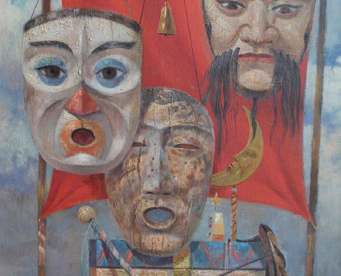 Paul Riba (American 1912 - 1977) Three Masks, ca. 1956 - 5