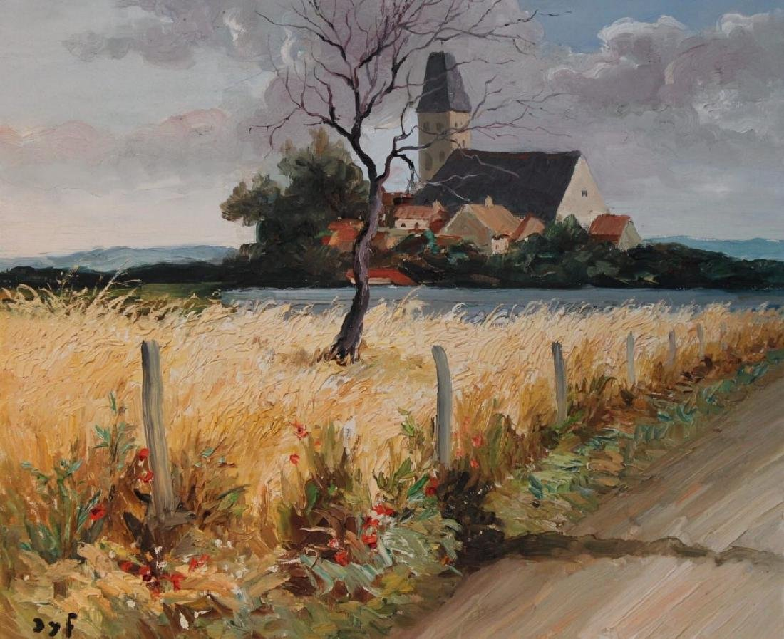 Marcel Dyf (French 1899 - 1985) Bretagne Landscape