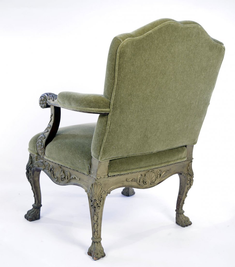 Georgian Style Painted Armchair, 19thc., ca. 1895 - 4